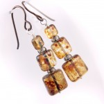Amber Czech Glass Squares
