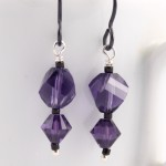 Ballon Drops in Purple Velvet Swarovski