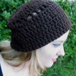Chocolate Beanie - Organic Cotton