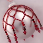 Cranberry Beaded Ornament