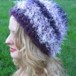 Fuzzy Fun Fur Purples Beanie - Acrylic and Nylon