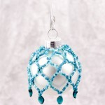 Glaciers Mini Beaded Ornament