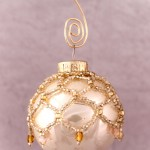 Golden Mini Beaded Ornament