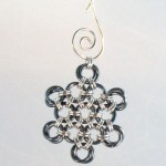 Gunmetal Chainmaille Snowflake