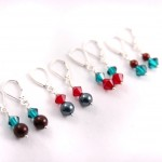 Christmas Colors Little Girl Earrings