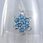 Mixed Blue Chainmaille Snowflake