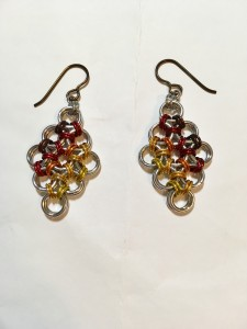 Fire-y Chainmaille Earrings