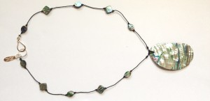 Paua Abalone Shell Necklace $40
