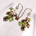Olive and Forest Swarovski Clusters
