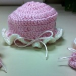 Pink Newborn Hat and Booties