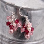 Pink and Rose Swarovski Clusters