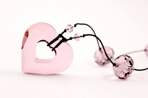 Pink Open Heart Necklace