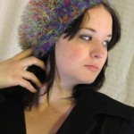 Rainbow Fun Fur Beanie - Acrylic and Nylon