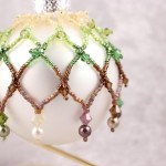 Rainforest Shaded Embellished Beaded Ornament