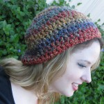 Red Blue Gold Beanie - Acrylic