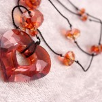 Red Magma Miss U Heart Pendant