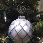White Shading to Teal Custom Ornament